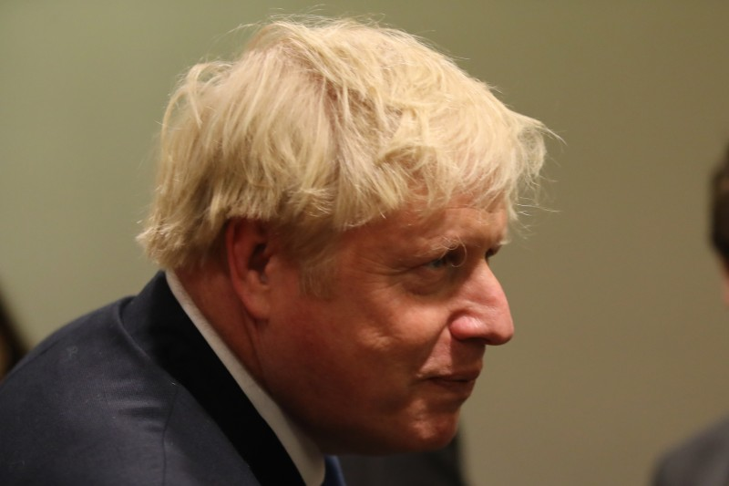 U.K. Prime Minister Boris Johnson arrives for a meeting with United Nations Secretary-General António Guterres at the U.N. General Assembly in New York on Sept. 24.