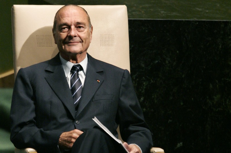 French President Jacques Chirac waits to address the 61st session of the United Nations General Assembly in New York on Sept. 19, 2006.