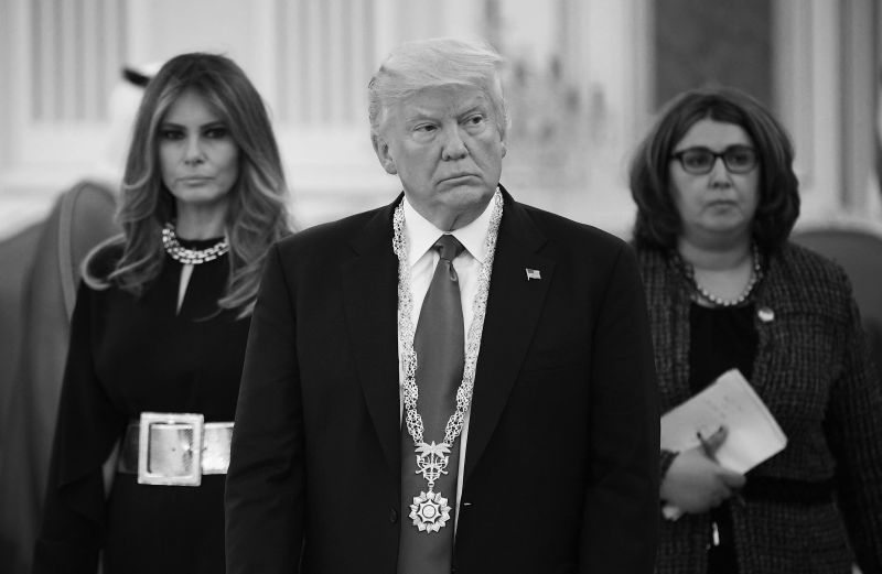 U.S. President Donald Trump wears the Order of Abdulaziz al-Saud medal.