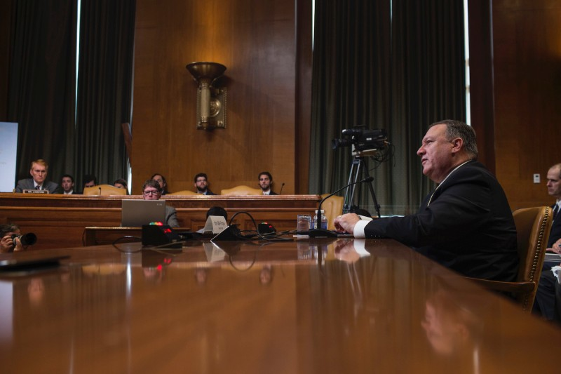U.S. Secretary of State Mike Pompeo testifies on Capitol Hill in Washington on June 27, 2018.