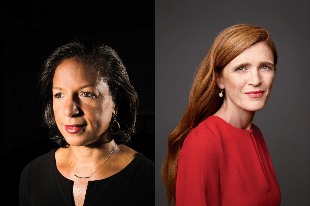 Susan Rice, former U.S. national security advisor, and Samantha Power, former U.S. ambassador to the United Nations.