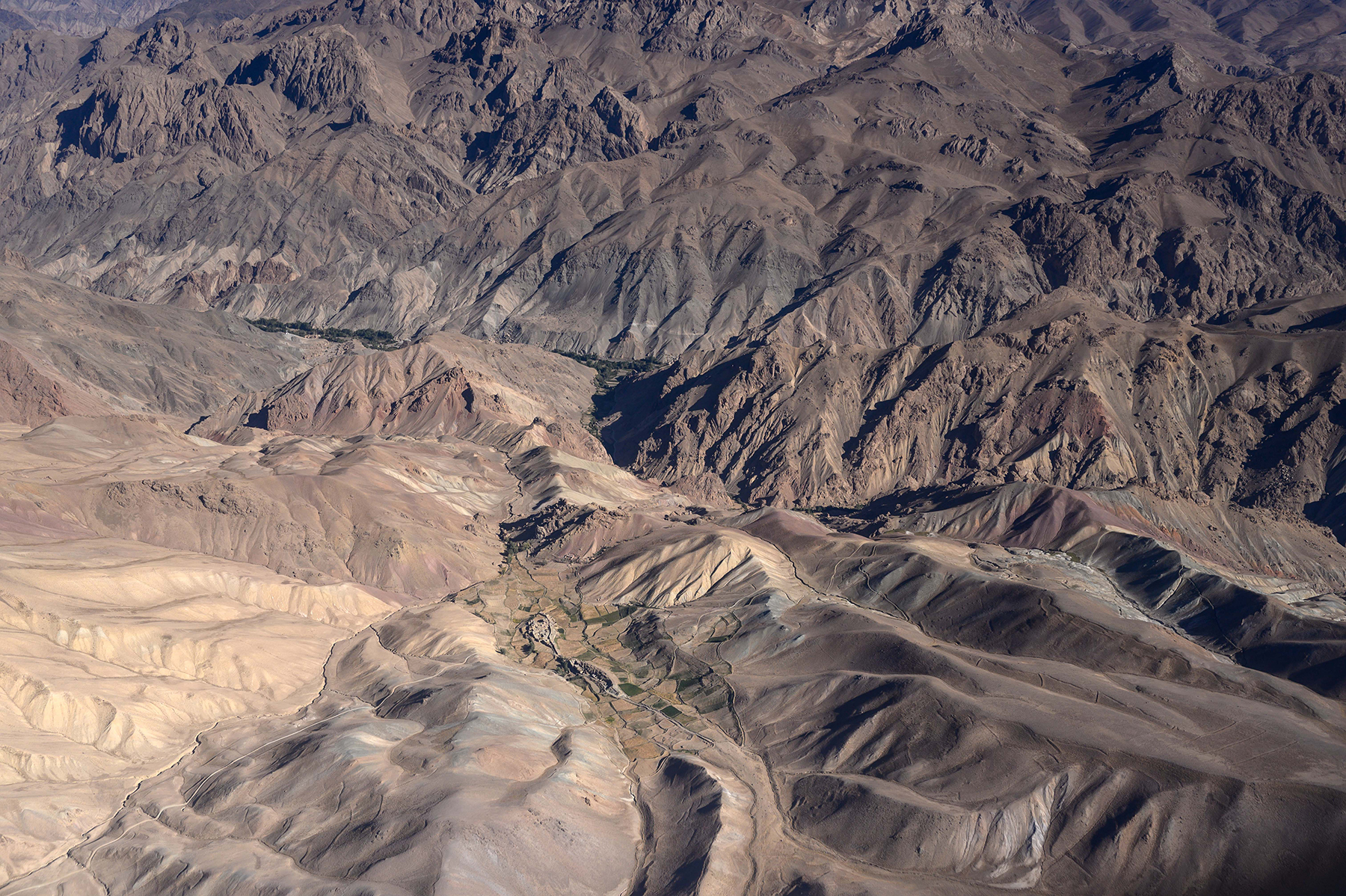 An aerial view of Bamiyan's many valleys on Sept. 18.