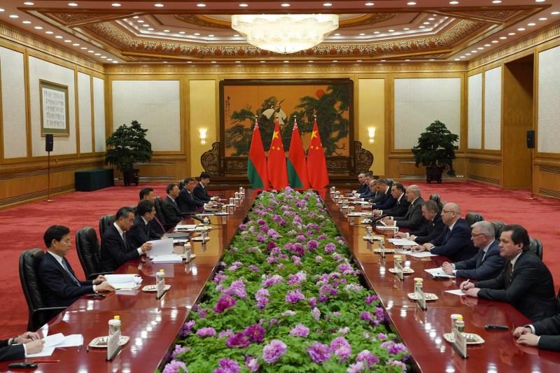 Chinese President Xi Jinping meets Belarus President Alexander Lukashenko.