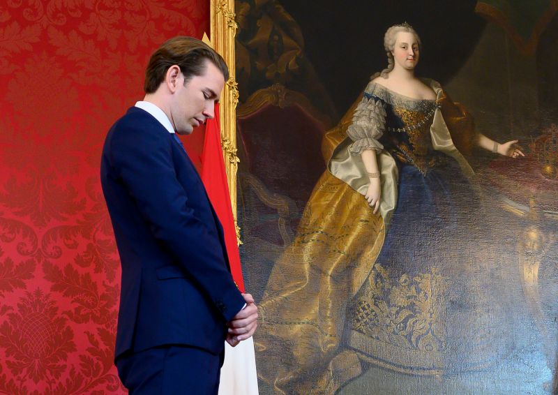 Sebastian Kurz, the leader of the Austrian People's Party, in Vienna.
