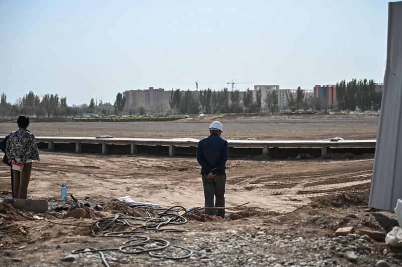 A park in Xinjiang.