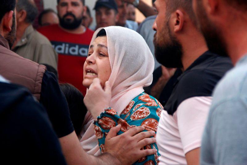 A Syrian woman in the Syrian Kurdish city of Qamishli