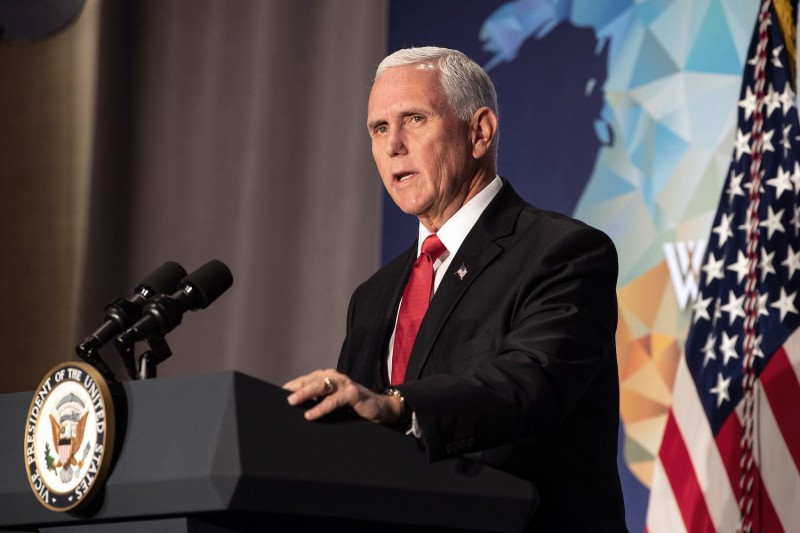 Vice President Mike Pence delivers a speech on U.S.-China relations.