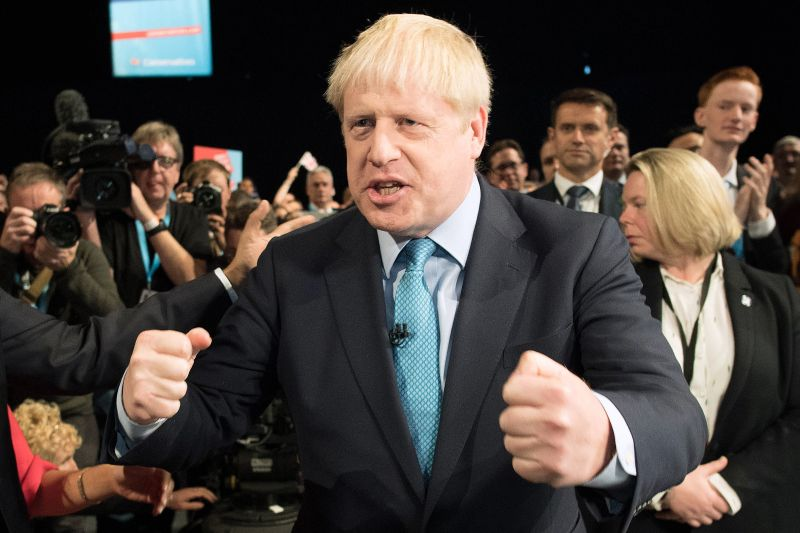 U.K. Prime Minister Boris Johnson following his keynote speech at the 2019 Conservative Party Conference in Manchester, England, on Oct. 2.