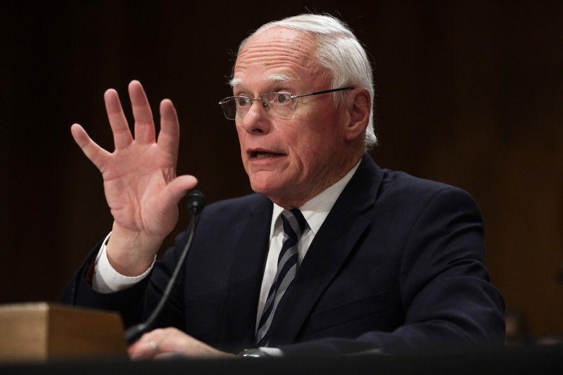 James Jeffrey, the U.S. special representative for Syria engagement and special envoy to the anti-Islamic State coalition, testifies during a hearing before the Senate Foreign Relations Committee on Capitol Hill in Washington on Oct. 22.