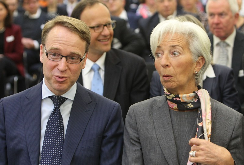 Christine Lagarde and Bundesbank President Jens Weidmann