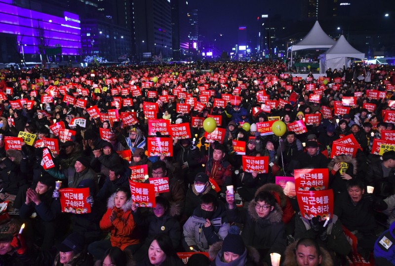 A candlelight protest in Seoul