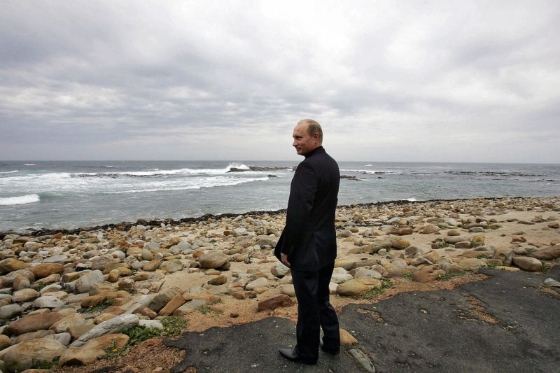 Russian President Vladimir Putin visits the Cape of Good Hope in South Africa.