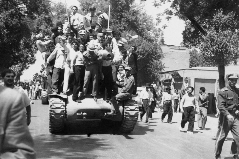 Iranian monarchists on Aug. 27, 1953, after staging a successful coup.