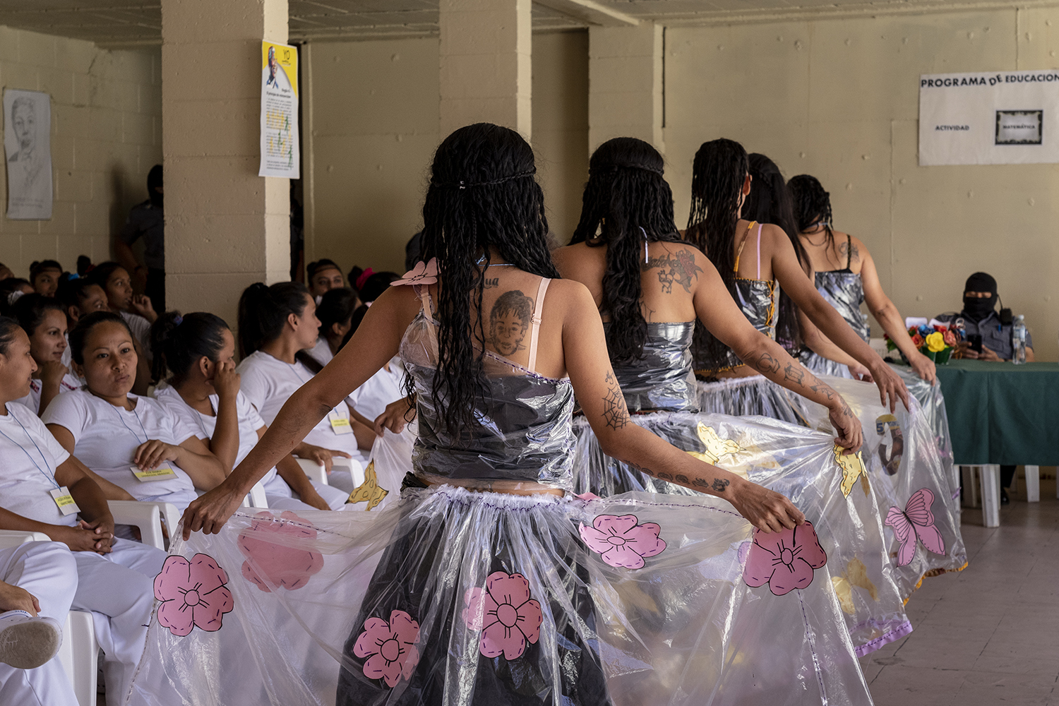 "Prisoners display their fashion creations as part of the ""Yo Cambio"" or ""I Change"" program, which attempts to rehabilitate prisoners, at the Penal Center of Quezaltepeque on Nov. 9, 2018."