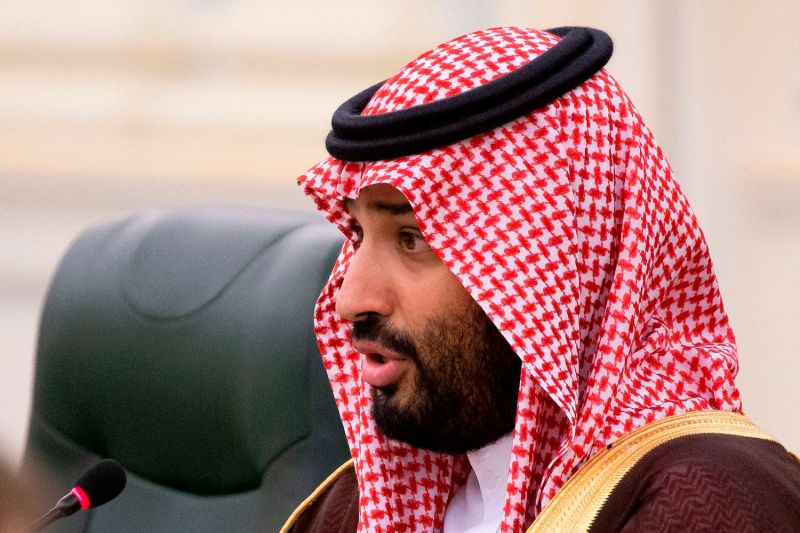 Saudi Crown Prince Mohammed bin Salman speaks during Saudi-Russian talks in Riyadh on Oct. 14.