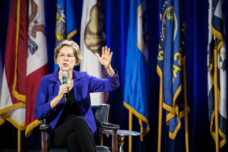 Democratic presidential candidate, Sen. Elizabeth Warren (D-MA) speaks at the Environmental Justice Presidential Candidate Forum at South Carolina State University on November 8, 2019 in Orangeburg, South Carolina.