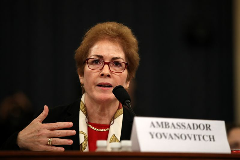Marie Yovanovitch testifies in the House impeachment inquiry.