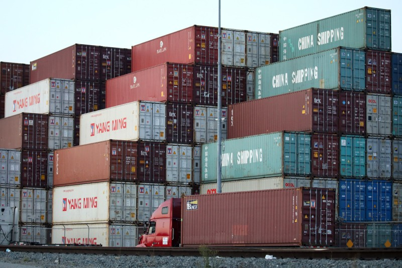 Shipping containers at the Port of Los Angeles, one of the main gateways for trade with Asia and which is suffering lower cargo volumes due to the trade war, on Nov. 7.