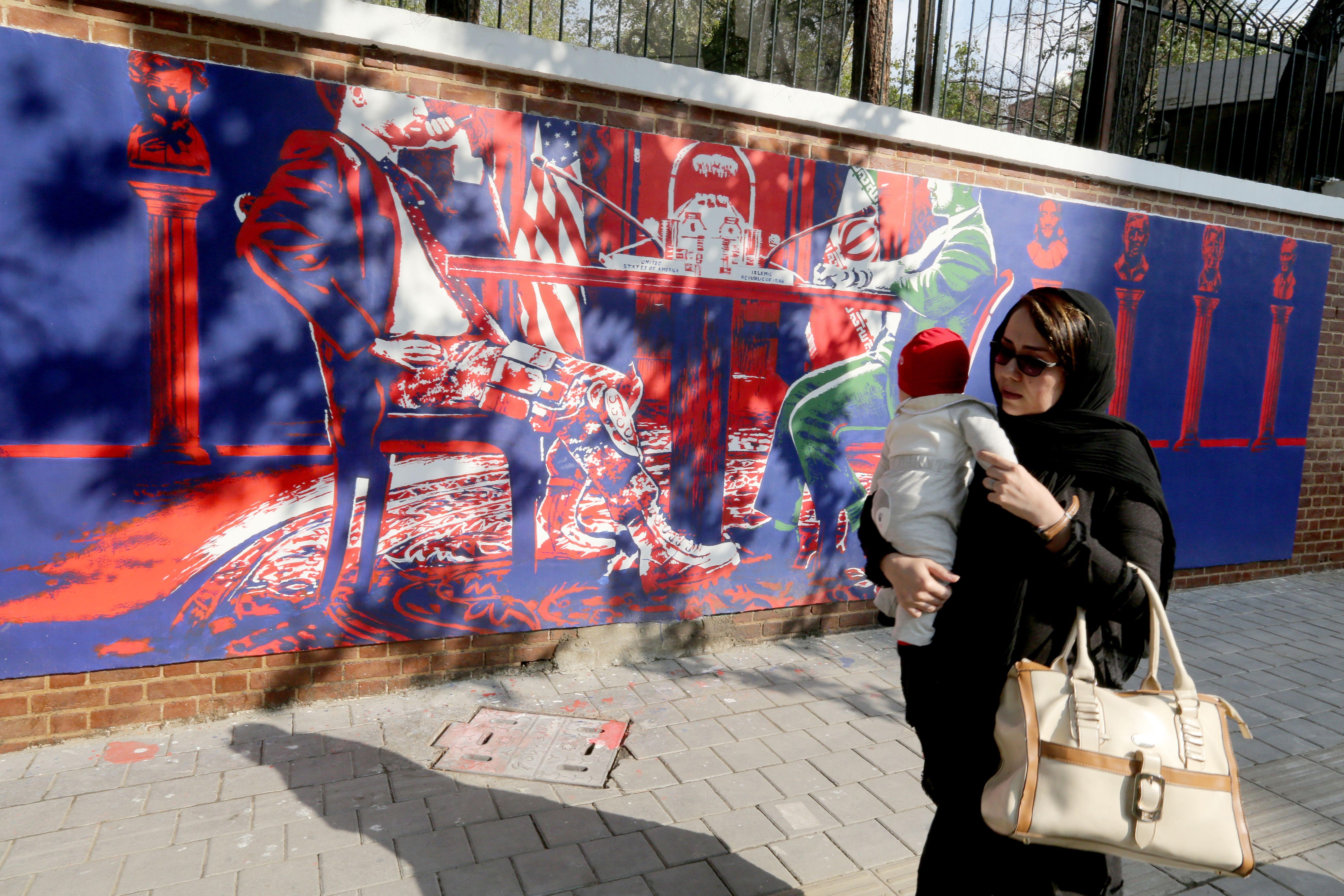 A new mural in Tehran on Nov. 2.
