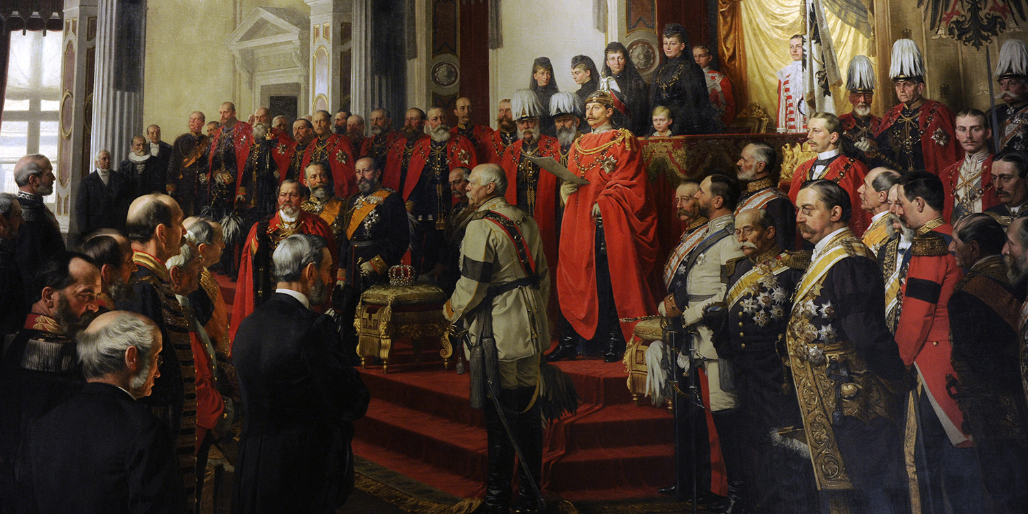 The Opening of the German Reichstag by Kaiser Wilhelm II on June 25, 1888, a painting by Anton Von Werner.