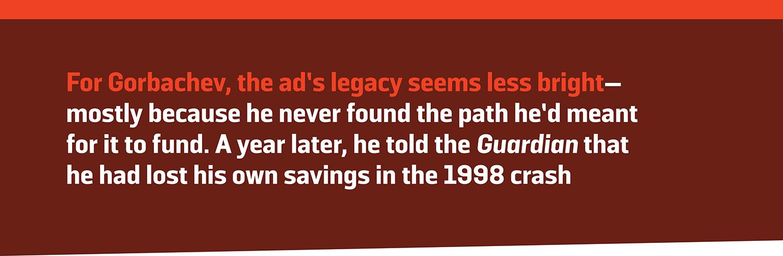 Gorbachev S Pizza Hut Ad Is His Most Bizarre Legacy