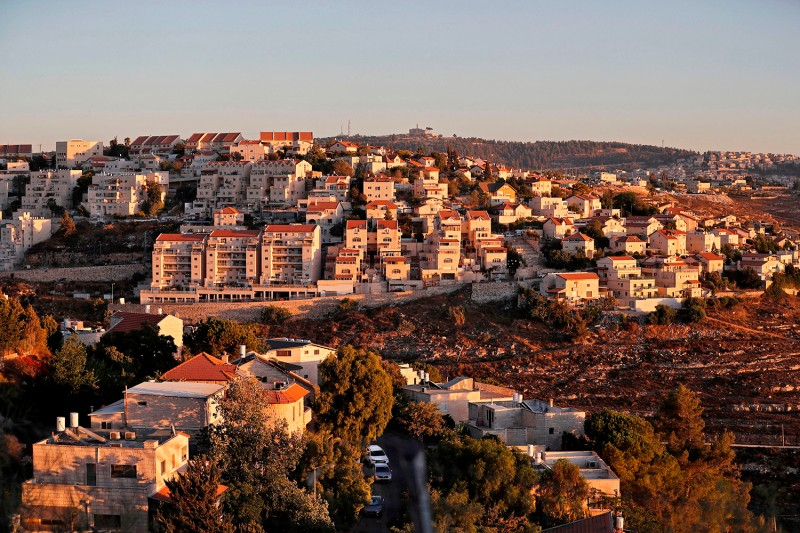 A view of the Israeli settlement of Givat Zeev, near the Palestinian city of Ramallah in the occupied West Bank, is shown on Sept. 25.