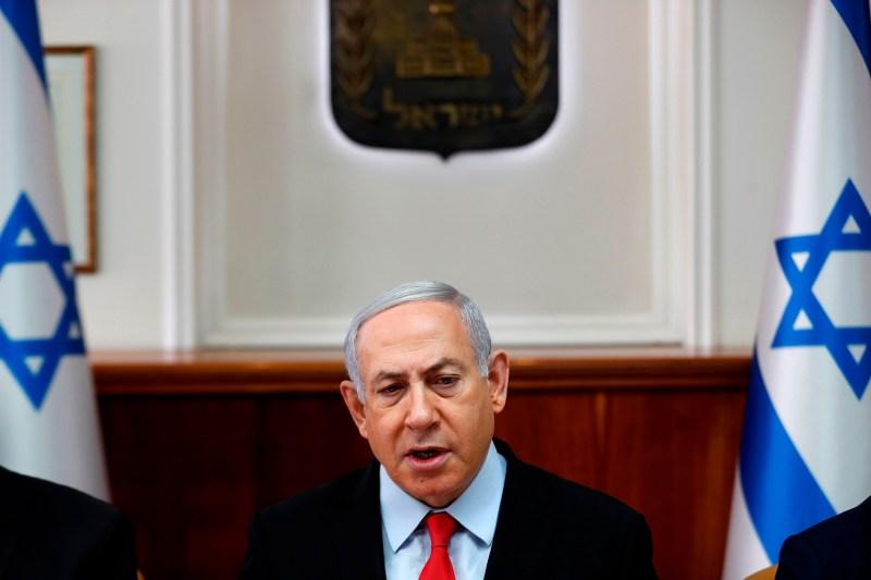 Israeli Prime Minister Benjamin Netanyahu chairs a cabinet meeting in Jerusalem on Nov. 13.
