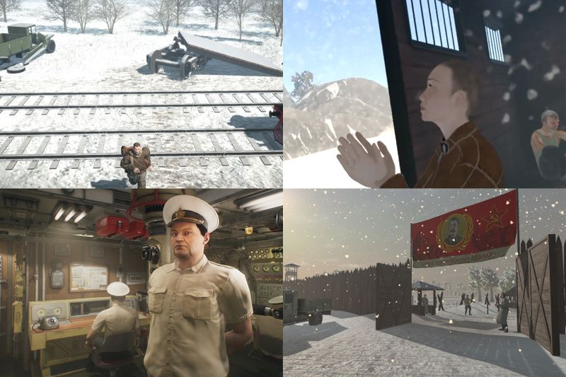 Scenes from VR video games