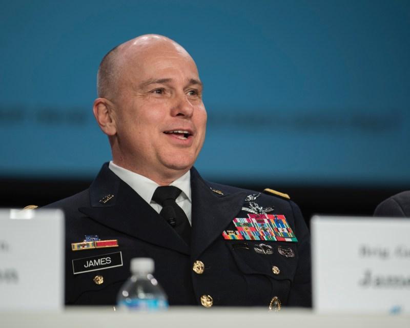 U.S. Army Brig. Gen. Thomas James