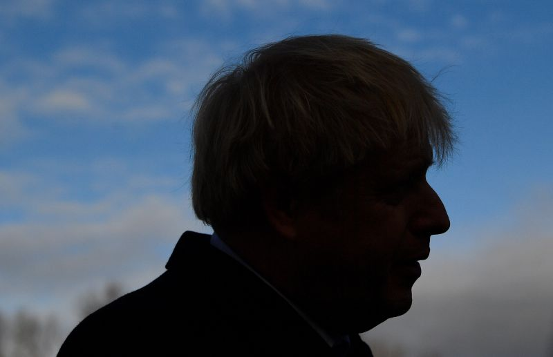 British Prime Minister Boris Johnson campaigns in England's northwest on Dec. 7.