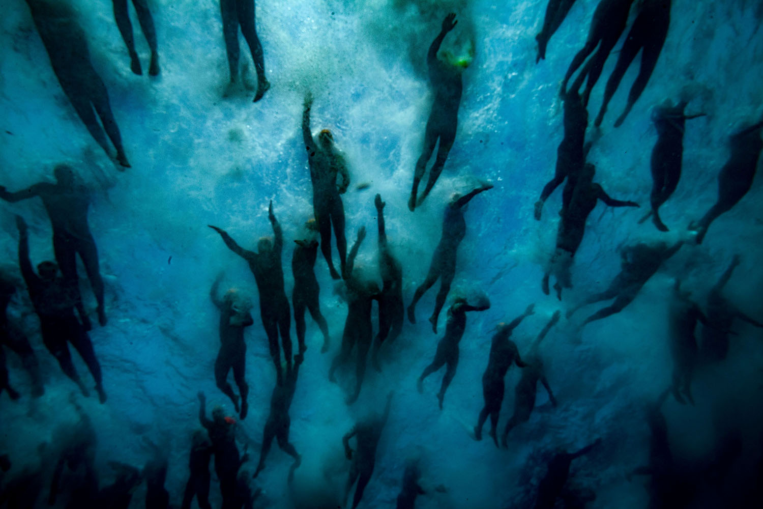 Swimmers compete in the Monte Cristo Challenge at the Chateau d'If, off the coast of Marseille, southern France, on June 21. BORIS HORVAT/AFP/Getty Images