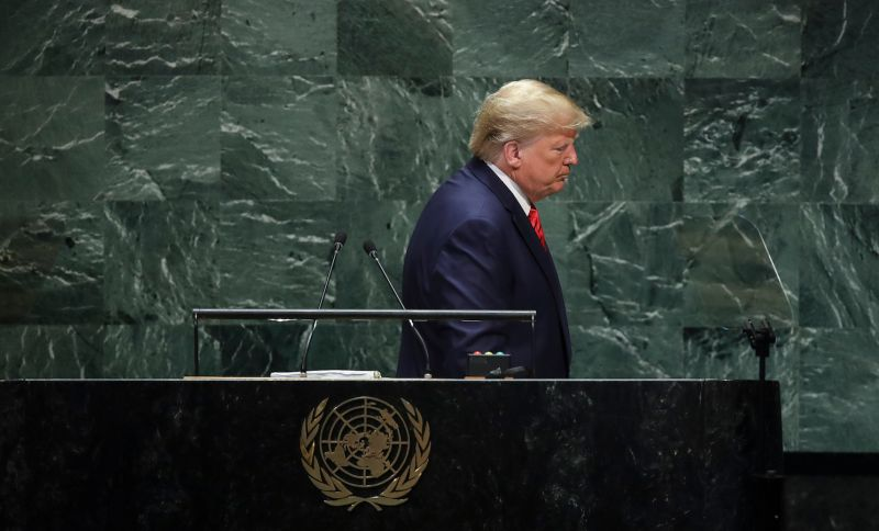 U.S. President Donald Trump at the United Nations General Assembly