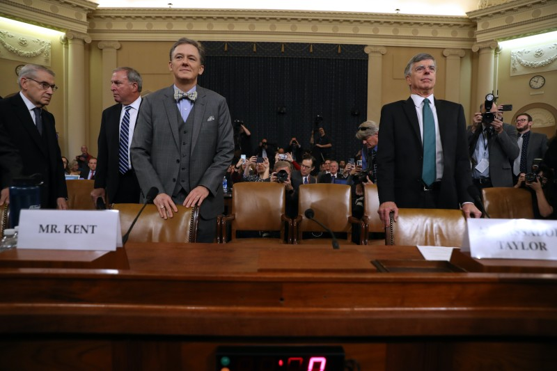 U.S. diplomats William Taylor and George Kent testify at House impeachment hearing
