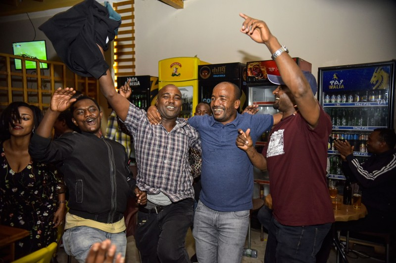 People in Hawassa, Ethiopia, celebrate the results of a referendum