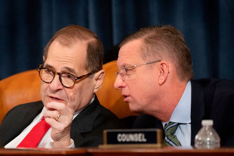House Judiciary Chairman Jerry Nadler, left, speaks with ranking member Doug Collins