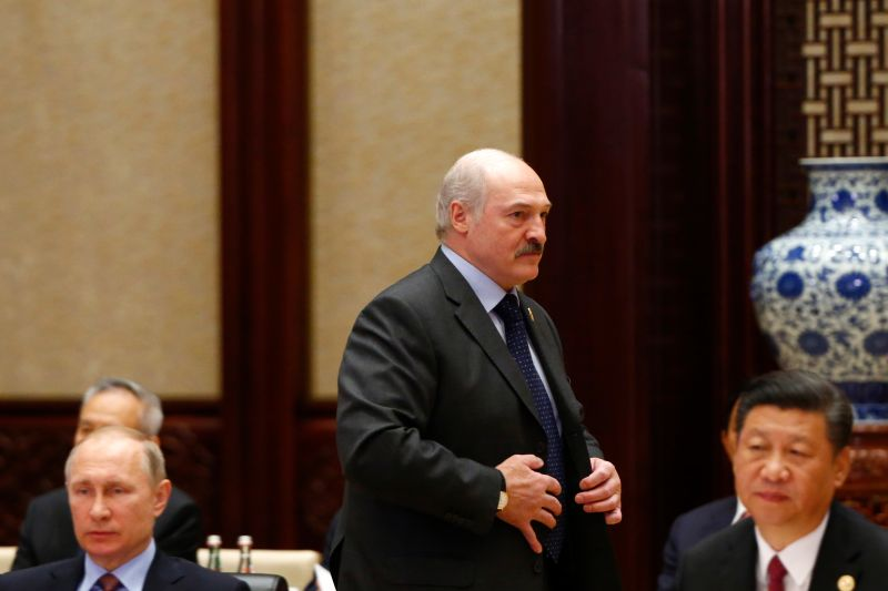 Russian President Vladimir Putin, Chinese President Xi Jinping, and Belarusian President Alexander Lukashenko