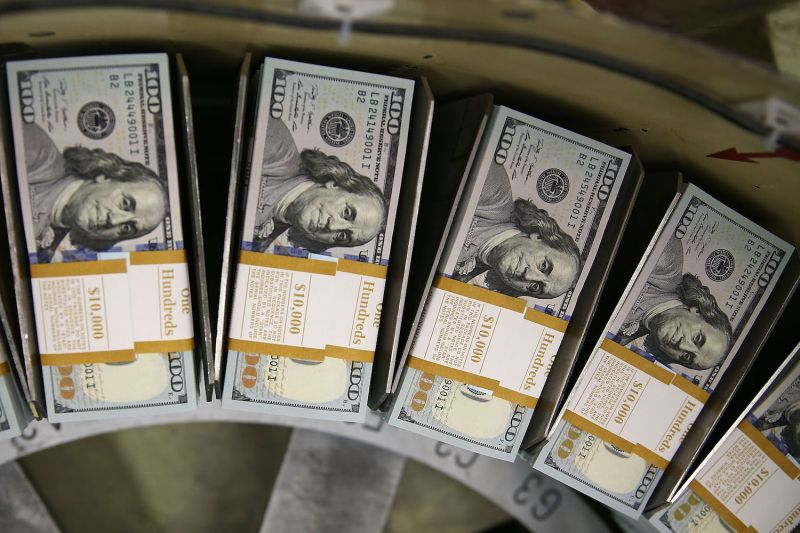 $100 notes are printed at the U.S. Bureau of Engraving and Printing in Washington, D.C., on May 20, 2013.