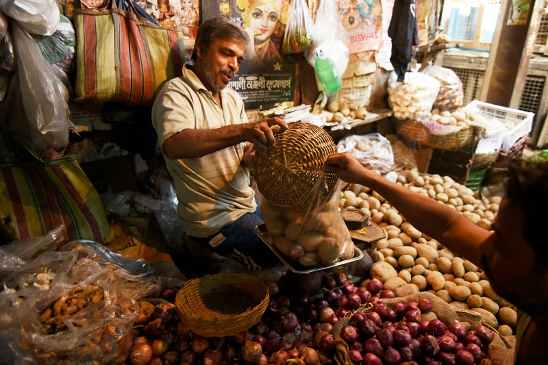 A wholesale market in Kolkata on Nov. 29.