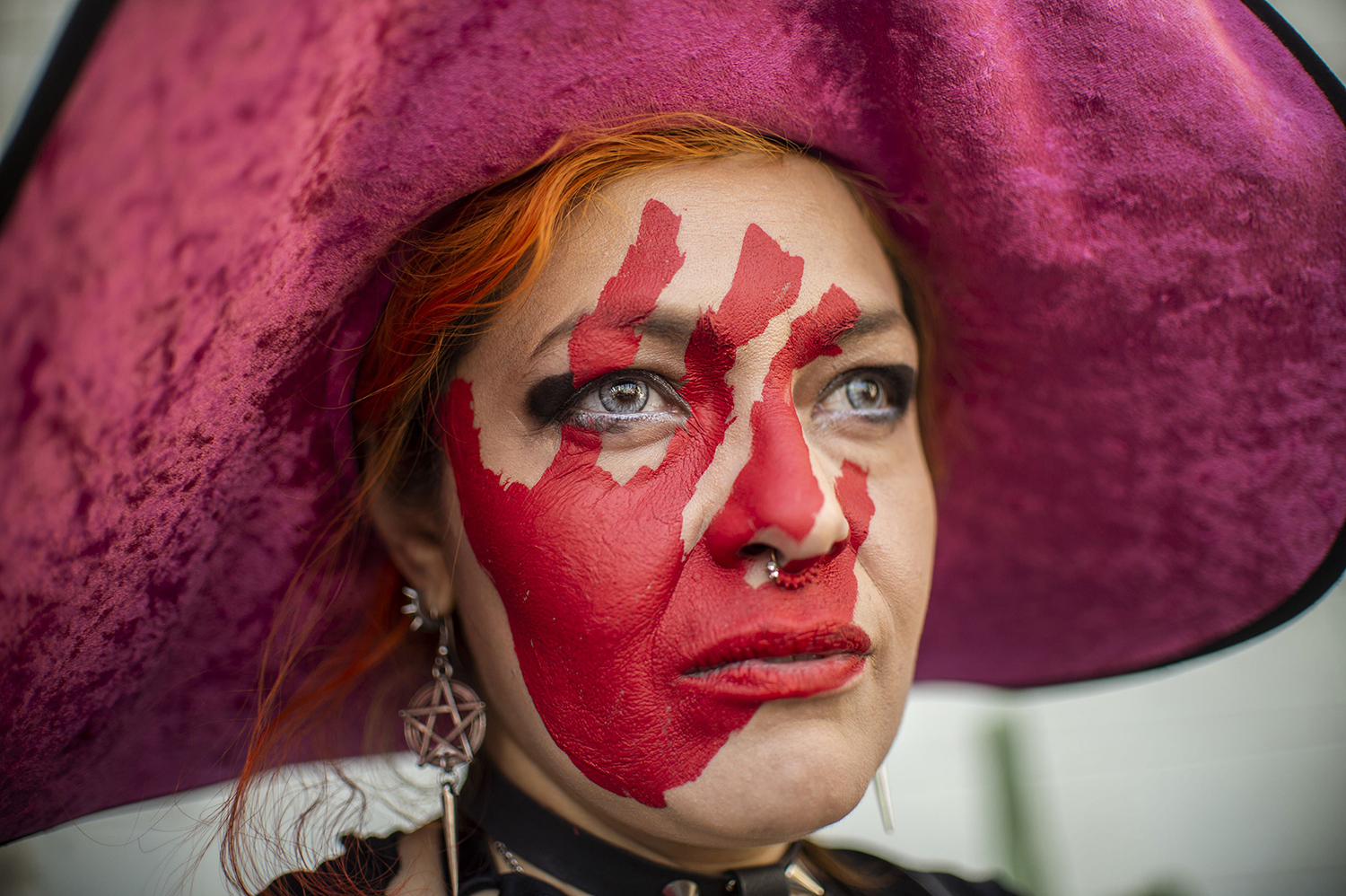 MEXICO | A woman takes part in a protest against gender violence and femicides in Mexico City on Feb. 2. Pedro Pardo/AFP/Getty Images