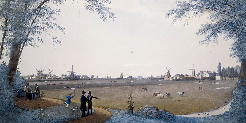 A polder landscape painting of Hillegersberg, Netherlands.