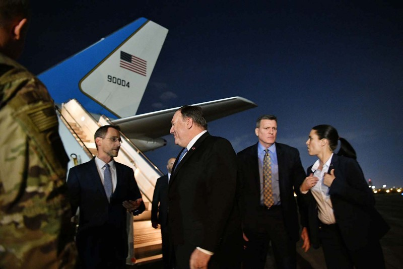 Secretary of State Mike Pompeo visits Baghdad, Iraq.