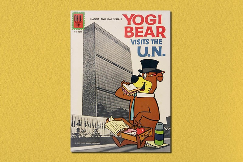 The cover of the 1961 comic book 'Yogi Bear Visits the U.N.'