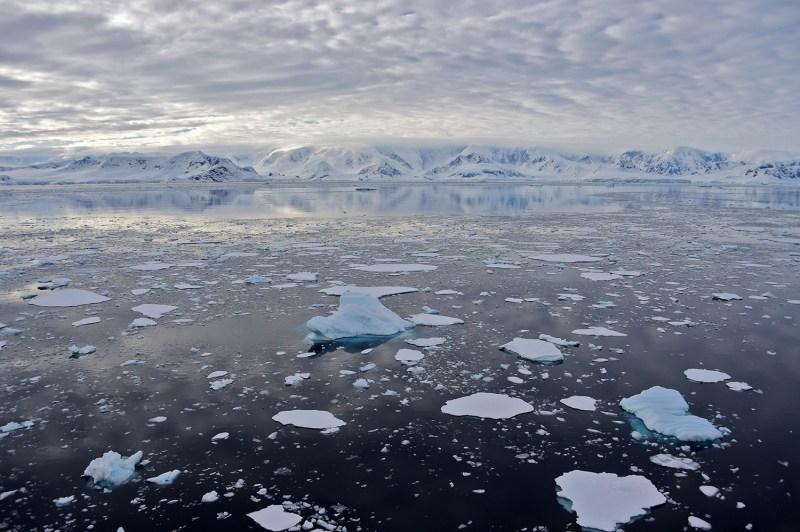 A view of a glacier at Chiriguano Bay in South Shetland Islands, Antarctica on Nov. 7.