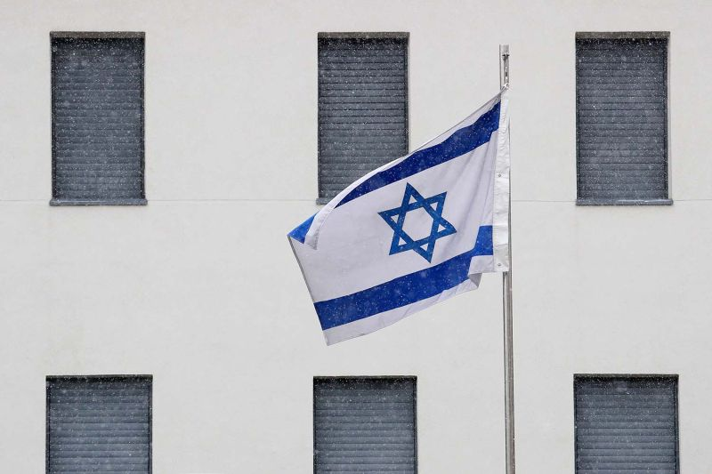 The shuttered Israeli embassy  in Moscow on Oct. 30, during an Israeli foreign ministry strike.