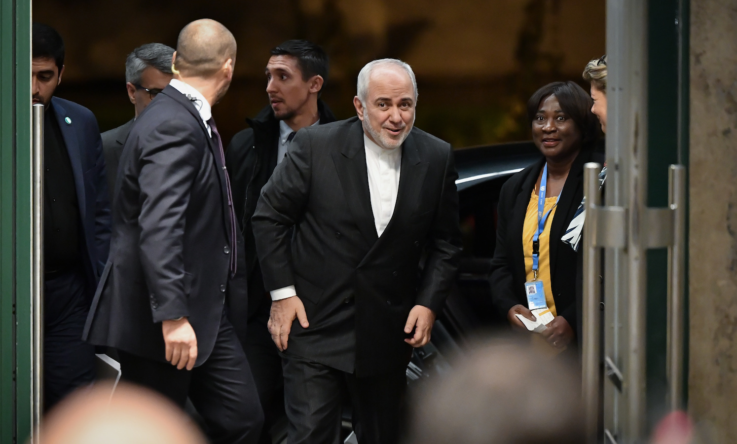 The Trump administration is barring Iran's top diplomat from entering the United States this week to address the United Nations Security Council about the U.S. assassination of Iran's top military official in Baghdad, violating the terms of a 1947 headquarters agreement .