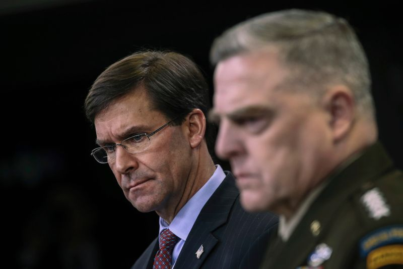 U.S. Secretary of Defense Mark Esper and Chairman of the Joint Chiefs of Staff Mark Milley