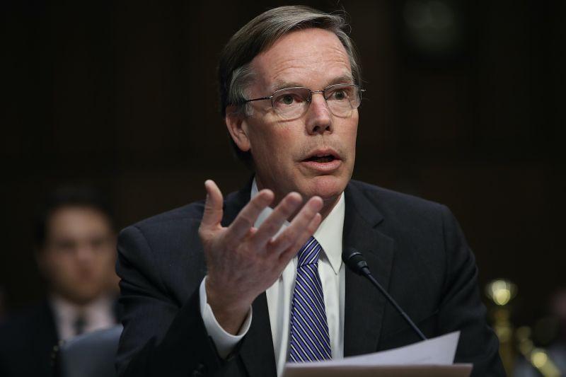 Former U.S. diplomat Nicholas Burns testifies before the Senate.