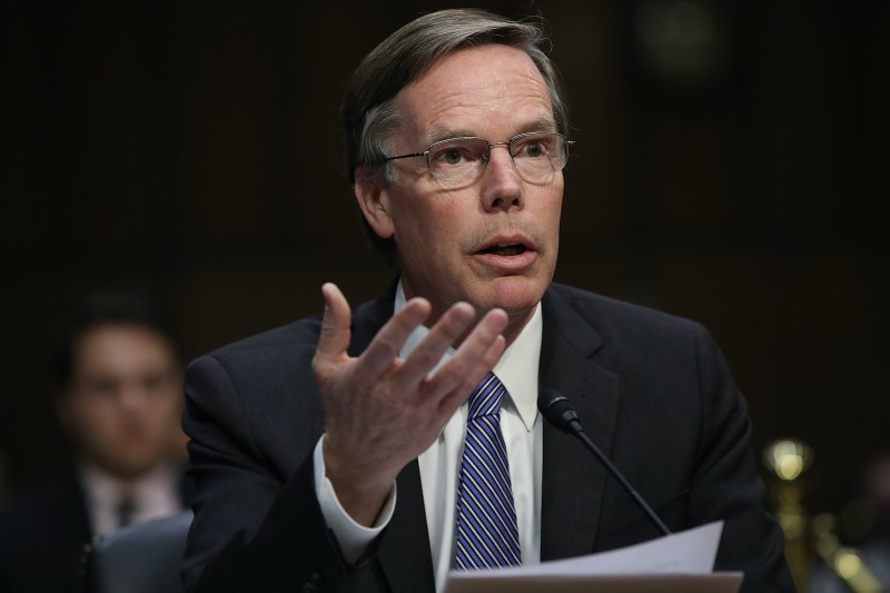 Former U.S. diplomat Nicholas Burns testifies before the Senate.