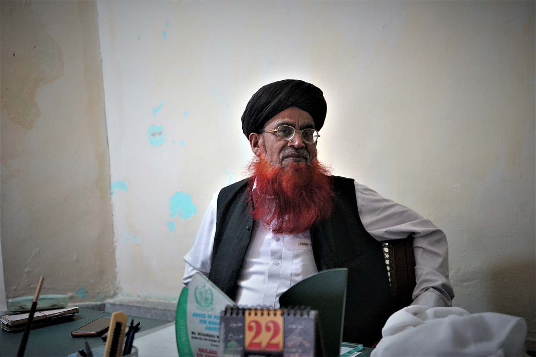 Hafiz Iqbal Rizvi in Rawalpindi on April 23, 2019.