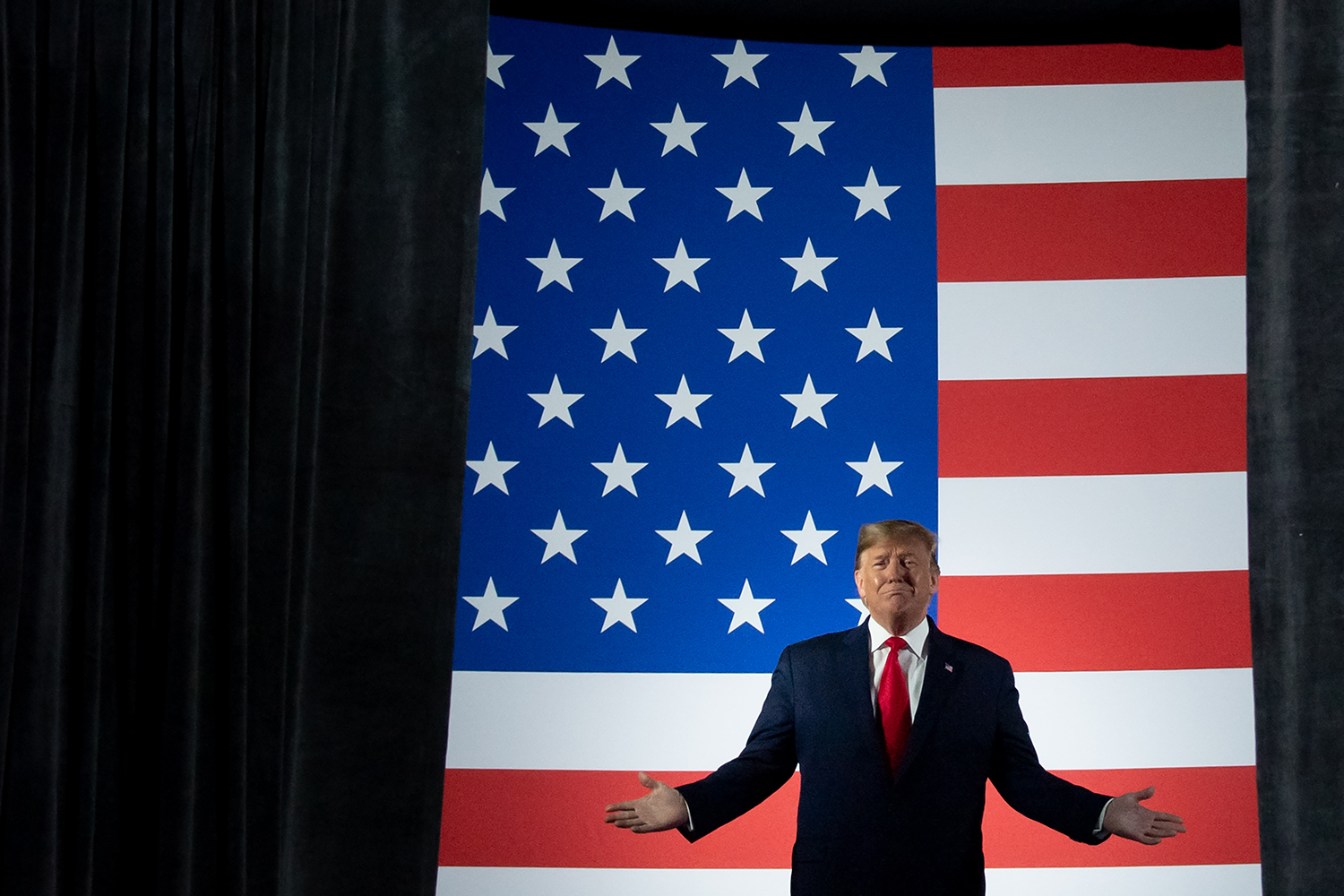 President Trump arrives for a campaign rally at Huntington Center in Toledo, Ohio, on Jan. 9. SAUL LOEB/AFP via Getty Images